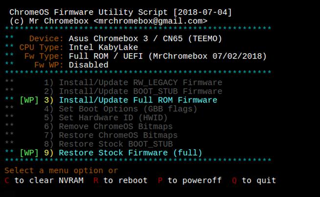 ChromeOS Firmware Utility Script